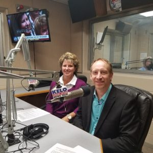 Dr. Anthony Breit and Jodi in the studio